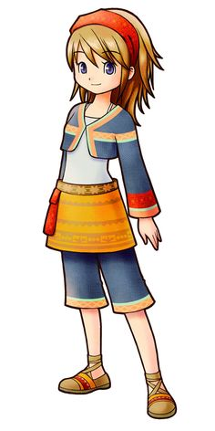 View an image titled 'Konohana Female Art' in our Harvest Moon: The Tale of Two Towns art gallery featuring official character designs, concept art, and promo pictures. Character Bank, Character Design, Harvest Moon Game, Rune Factory, Fantasy Drawings, Moon Lovers, Cute Stories, Club Outfits, Magical Girl