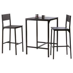 High Bar Table Stools Chairs Wood Metal 2 Seater Set Kitchen Dining Living Room for sale