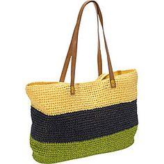 Straw Handbags and Purses - eBags.com  -  Straw Studios - Nantucket E/W Tote