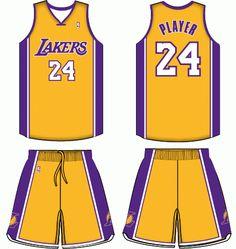 Los Angeles Lakers Home Uniform 2000- Present