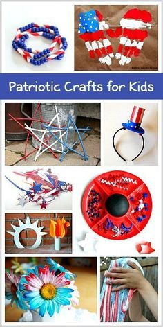 18 Cool of July Crafts and Activities for Kids: All kinds of patriotic crafts including a handprint flag, a homemade torch craft, and homemade decorations! (Cool Crafts For Teachers) Patriotic Crafts, July Crafts, Summer Crafts, Holiday Crafts, Holiday Fun, Summer Fun, Craft Activities, Preschool Crafts, Craft Projects