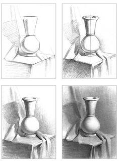 Шпаргалки по ведению натюрморта и гипсовых деталей. #Пособия@academic_drawing #Натюрморт@academic_drawing