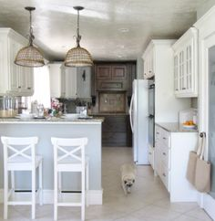 Elegant Cottage Kitchen in White and Gray