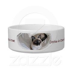 Precious Snowshoe kitten food bowl Cat Bowl $24.70