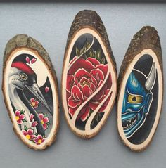 """""""Inspired"""" – Great Tattoo-Like Portraits on Wooden Canvases by Kirsten Roodbergen Wood Burning Crafts, Wood Burning Art, Tole Painting, Painting On Wood, Holz Tattoo, Illustration Tattoo, Woodcut Art, Japanese Tattoo Art, Wood Slices"""
