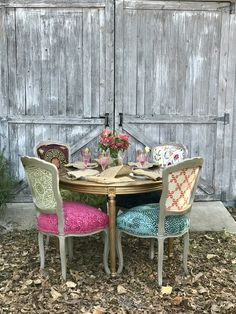 Upcycled Chairs Create a Vintage Vibe - The Chair Stylist