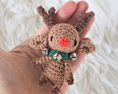 Rudolph the Tiny Reindeer Crochet Pattern / Amigurumi / Photo Tutorial