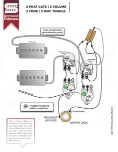 Seymour duncan p rails wiring diagram 2 p rails 2 vol 2 tone on wiring diagrams asfbconference2016 Image collections