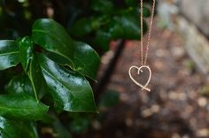 14K Diamond Heart Pendant set in Rose Gold