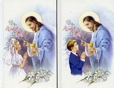 boy and girl communion: