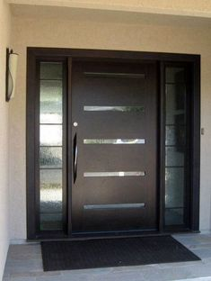 Modern front house entrance design ideas house front door ideas contemporary house front doors a front . Modern Garage Doors, Modern Front Door, Front Door Design, Window Design, Modern Exterior Doors, Exterior Design, Entrance Design, Exterior Siding, Front Door Entrance