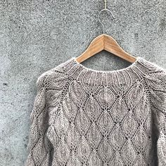 Ravelry: Olive Sweater - My Size pattern by Pernille Larsen Sweater Knitting Patterns, Lace Knitting, Knit Crochet, Tunisian Crochet, G 1, Lace Sweater, Lace Scarf, Knit In The Round, Lace Patterns