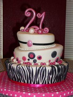 21st birthday idea   21st Birthday Cakes Zebra 21st Birthday Cake – Pictures of Birthday ...