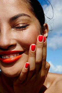 For nails, keep it simple but striking with colors like watermelon, tangerine, lemon and cantaloupe.