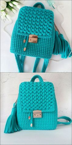 Crocheting and knitting are such splendidly fun pastimes. Even if you have by using no capacity held a crochet needle, there are so many delicate matters that you can create. Crochet Backpack Pattern, Free Crochet Bag, Crochet Market Bag, Crochet Gifts, Crotchet Bags, Knitted Bags, Crochet Handbags, Crochet Purses, Diy Handbag