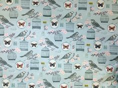 Clarke And Clarke Melodie Duck Egg | Textile Express | Buy Fabric