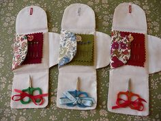 Very cute little needle book with button closure.