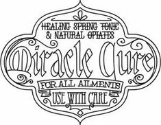 Miracle Cure Apothecary Label | Urban Threads: Unique and Awesome Embroidery Designs
