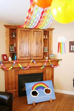 Rainbow birthday party! Love the rainbow bean bag toss - could use socks as bags & just sew the top to close it