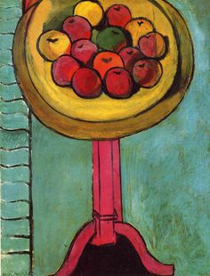 Henri Matisse - Apples on a Table, Green Background 1916