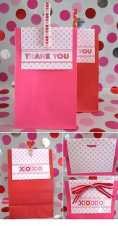 Valentine's Day Treat Sack Topper - Free PDF Printable. 2 Designs.