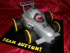 Jenson Button Race Car Cake