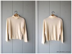 90s Pendleton Sweater Rib Knit Turtleneck Cream White Ribbed Wool Shirt Thin Sweater Top 1990s Minimal Preppy Long Sleeve Shirt Womens Large Vintage Sweaters, Cream White, 1990s, Turtleneck, Rib Knit, Preppy, Long Sleeve Shirts, Preppy Style