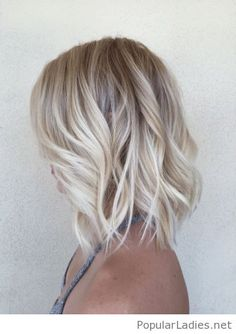 Awesome ash blonde lob bob