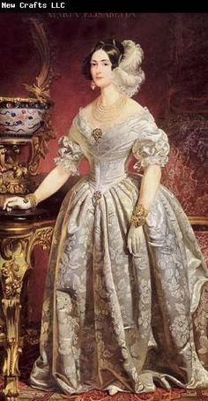 unknow artist Portrait of Maria Elisabetta of Savoy (1800-1856)