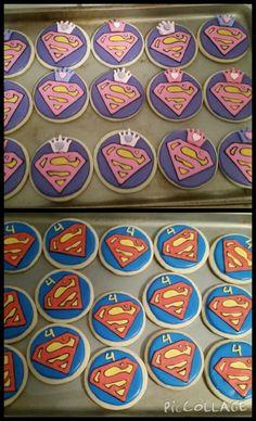 Superman Supergirl cookies                                                                                                                                                                                 More
