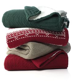 Martha Stewart Collection sweaterknit throws — let the snuggling commence