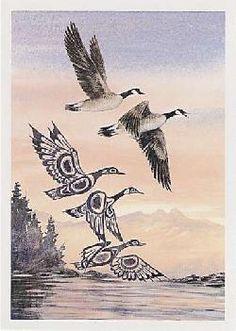 Sue Coleman Canadian Watercolour Artist  Canada Geese AC334 (AC33410)