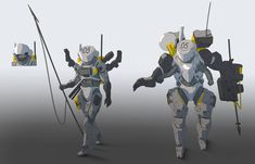 Astronaut knights by StTheo on DeviantArt Armor Concept, Concept Art, Powered Exoskeleton, Future Soldier, Sci Fi Armor, Knight Armor, Suit Of Armor, Sci Fi Characters, Space Marine