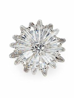 CZ by Kenneth Jay Lane Sparkle Flower Ring