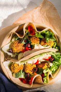 herby quinoa falafel with tahini lemon sauce