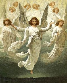 "Suddenly a great company of the heavenly host appeared with the angel,praising God and saying,        ""Glory to God in the highest heaven,and on earth peace to those on whom his favor rests   Luke 2:14"