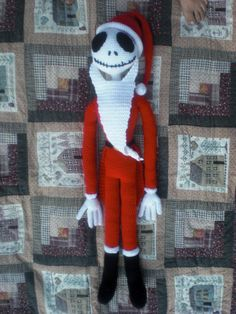Santa Jack Skellington Crochet Pattern. $5.20, via Etsy.