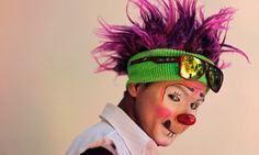 A clown called Cordelito poses during National Clown Day which honours all Salvadorean clowns and their efforts to bring fun to the country