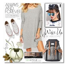 """""""Yesstyle"""" by meldin ❤ liked on Polyvore featuring GIMMAX Glasses, Eloqueen, Converse, Mr.ace Homme, Niche Modern, women's clothing, women's fashion, women, female and woman"""