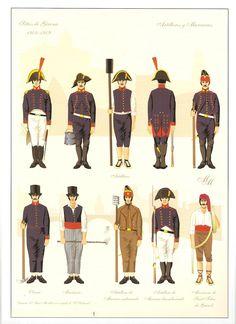 Artillery, Sappers & Naval Artillery, Seige of Gerona, 1809 Parade Rest, Navy Uniforms, Military Uniforms, Empire, Army Uniform, Imperial Russia, Napoleonic Wars, Guerrilla, France