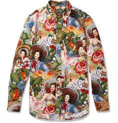 Gitman Vintage Printed Cotton Shirt