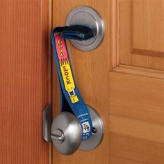 Keep out the baddies with this super cheap and effective door thingamajig!