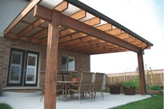 wood solid patio cover designs | But if suddenly it rains while you're having a get-together, what are ...