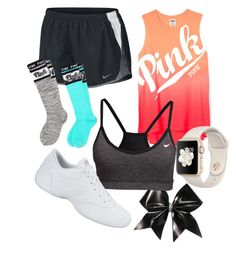 Designer Clothes, Shoes & Bags for Women Cheer Practice Outfits, Cheer Outfits, Summer Outfits, Gymnastics Wear, Cheer Clothes, Pitch Perfect, Packing Lists, Leotards, Victoria's Secret Pink