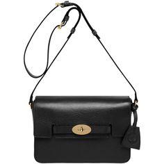 Bayswater Shoulder Black Shiny Chic Shoulder Bag by Mulberry