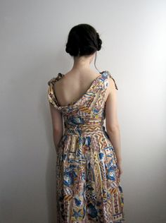 1950's Vintage Seashell Day Dress by tomorrowisforever - Gorgeous