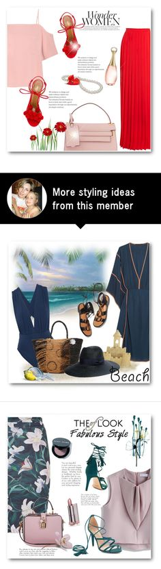 """Red & pink"" by bliznec on Polyvore featuring T By Alexander Wang, Lanvin, Aquazzura, Valentino and Christian Dior"