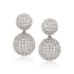 Sterling Silver Swarovski Crystal Ball Drop Earrings Women Fashions Pinterest And