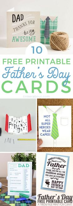 Are you looking for funny & creative Father's Day Cards? Well, look no further! These cards are so cute! And the best thing? All of these Father's Day Cards are FREE Printables! #fathersday #freeprintables #freeprintable