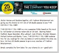 Win A Double Pass To See The Company You Keep